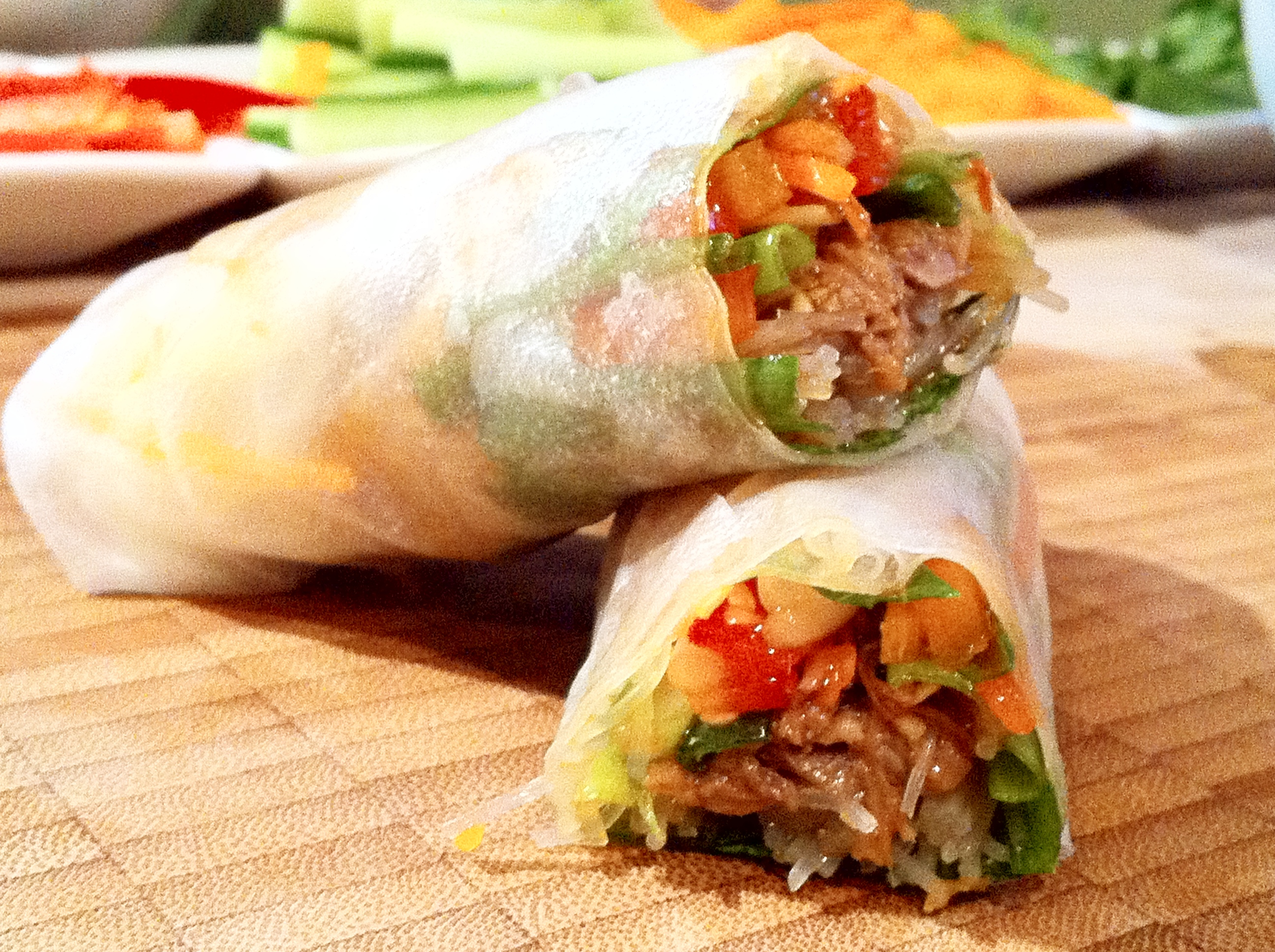 Great as a party dish where everyone makes their own spring rolls