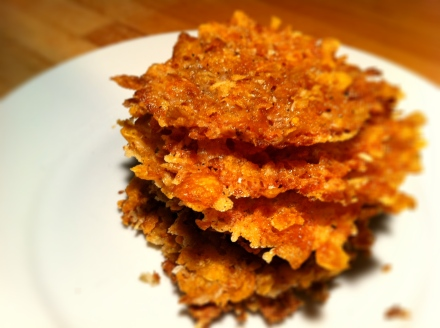Cheesy cornflake crisps. Oh so moreish!