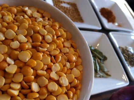 Follow the yellow-split lentil