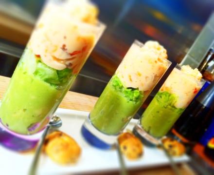 Prawn and avocado salad amuse bouche