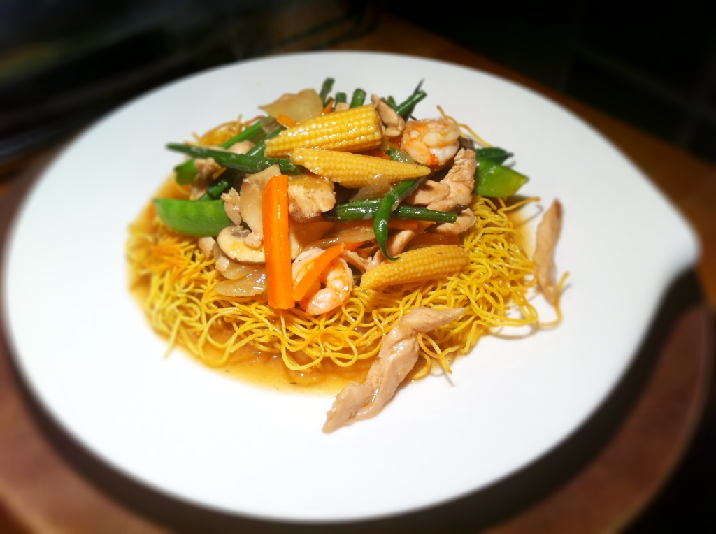 Crispy Mah Mee With Chicken And Prawn Thebigfatnoodle