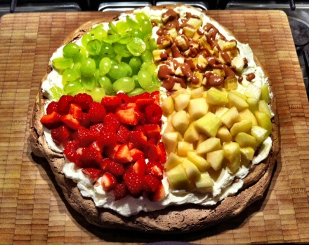 The quattro frutti chocolate pavlova
