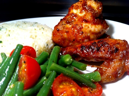 Hot and spicy peachy wings