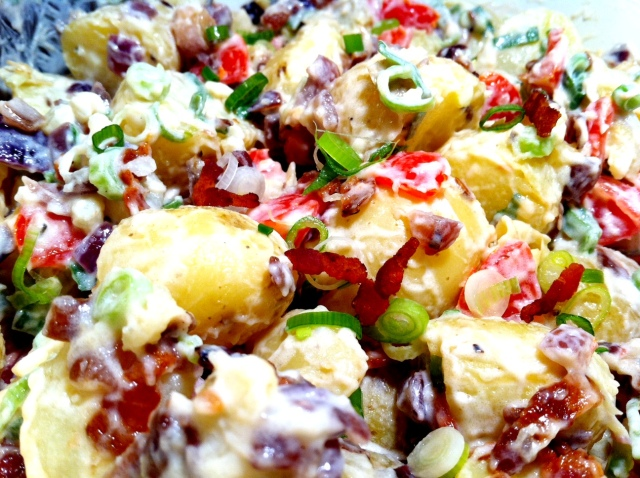 Up close and personal with my ingredient-packed ultimate potato salad
