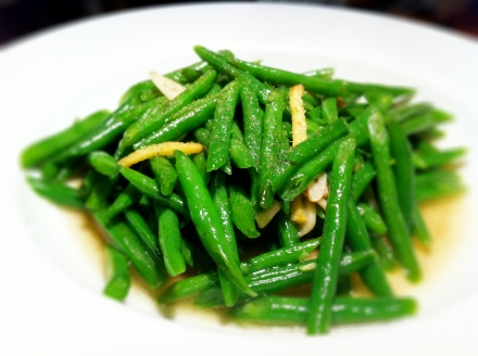 Stir fried green beans cooked the way I know best. Simple. Clean. Nourishing.