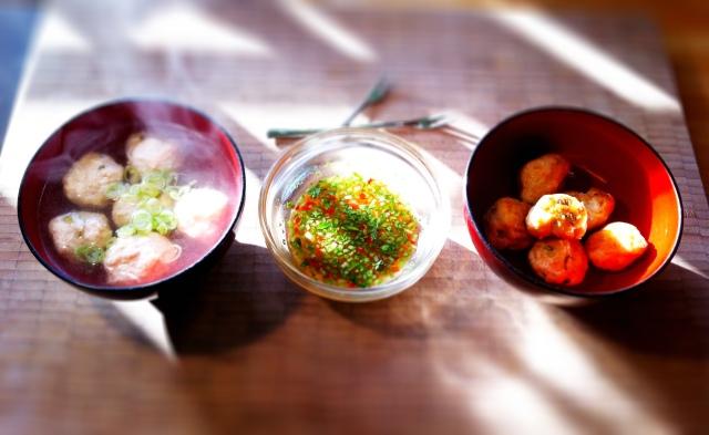 Squid and tilapia fish balls