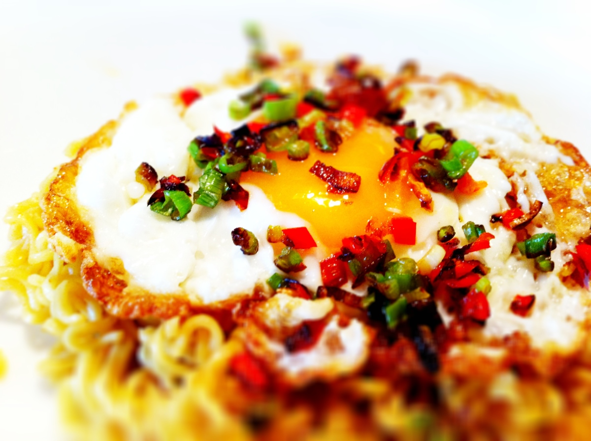 fried-egg-dressed-with-lightly-fried-chilli-spring-onions-and-garlic1 ...