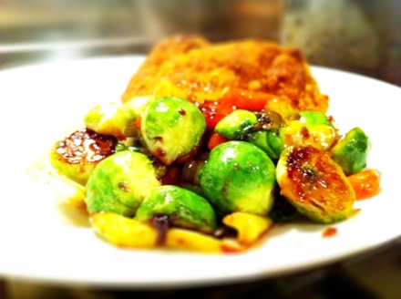 Stir fried brussels sprouts takes the edge of the cabbage flavour and keeps them crunchy and yummy