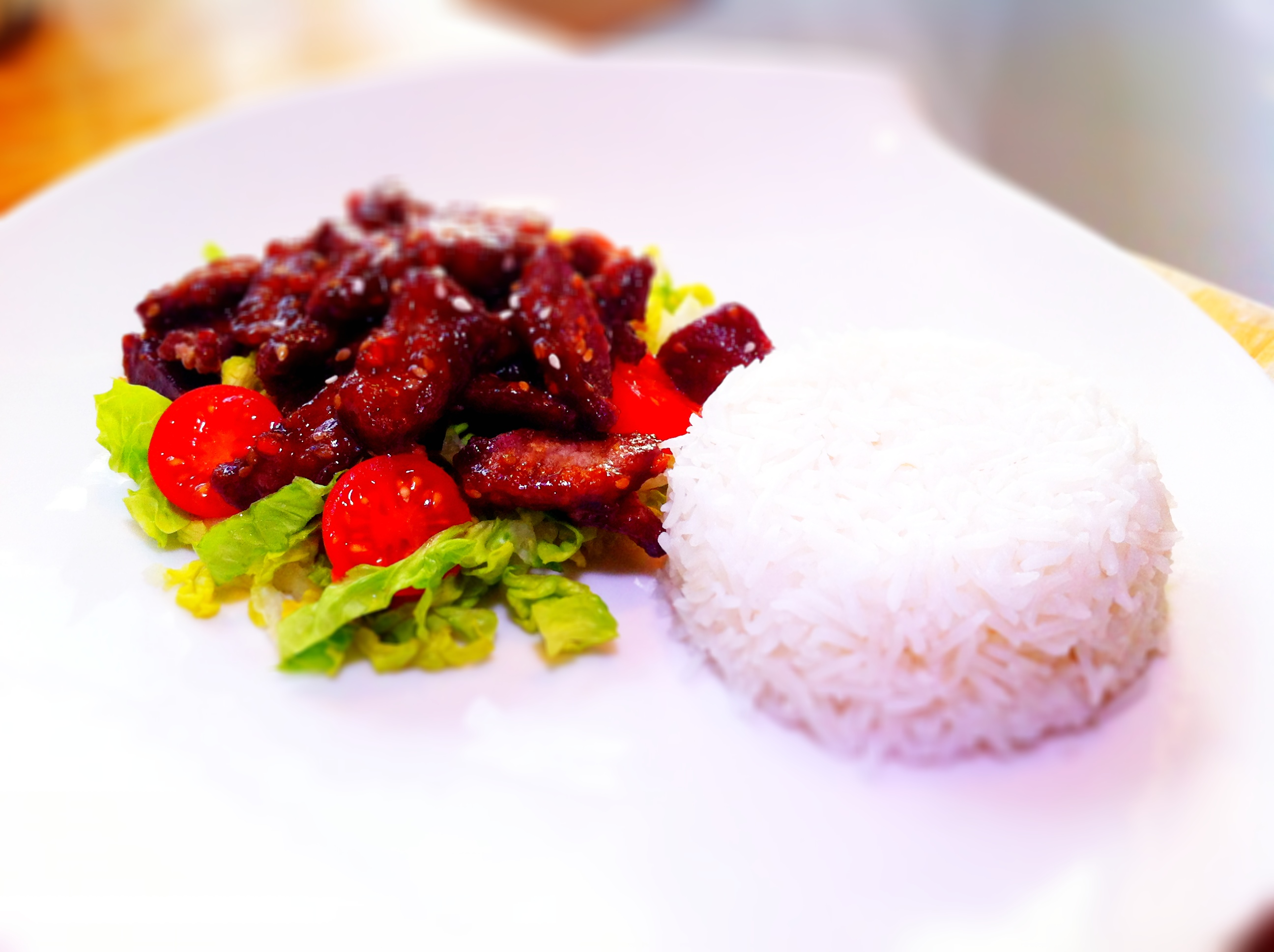 Sweet and spicy crispy chilli beef