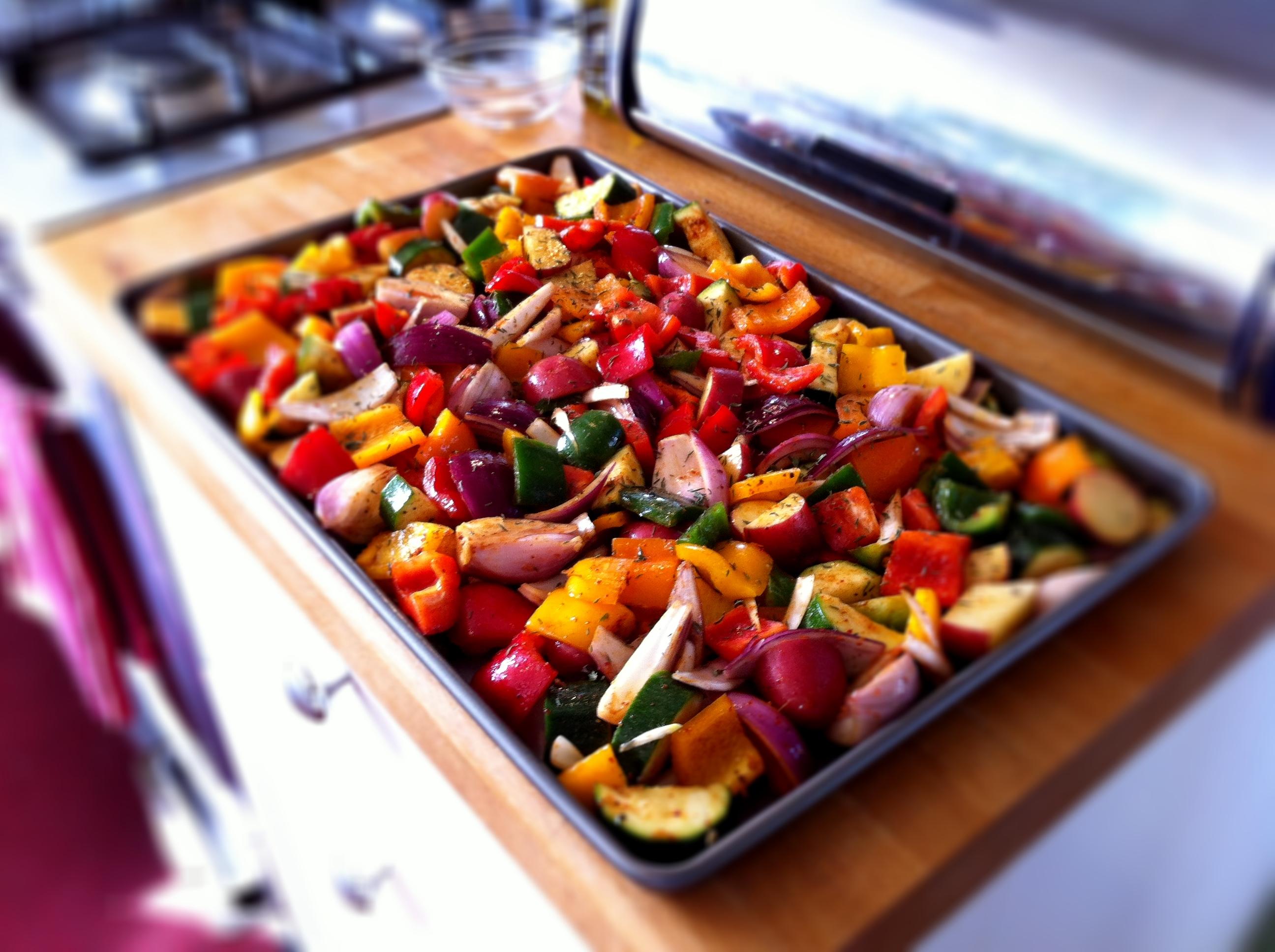 Vegetable oil roast potatoes